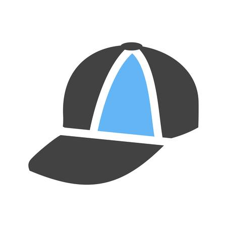 head protection: Cap, hat, style icon vector image. Can also be used for summer, recreation and fun. Suitable for use on mobile apps, web apps and print media. Illustration