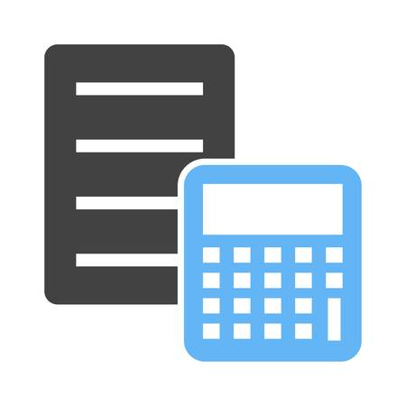 banking and finance: Document, calculation, sheet, icon vector image.Can also be used for banking, finance, business. Suitable for web apps, mobile apps and print media. Illustration