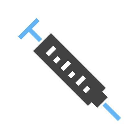 注射器、針、注射アイコン ベクトル画像。ヘルスケアおよび医療にも使用できます。携帯アプリ、web アプリ、印刷メディアに適しています。  イラスト・ベクター素材