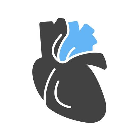 vena: Heart, human organ, organ, medical icon vector image. Can also be used for healthcare and medical. Suitable for mobile apps, web apps and print media. Illustration