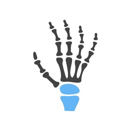 finger bones: X-ray, bones, skeletonicon vector image. Can also be used for healthcare and medical. Suitable for web apps, mobile apps and print media.