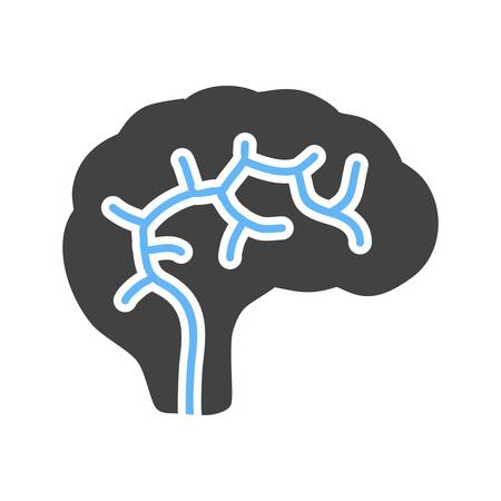 mri head: Brain, neurology, neuro icon vector image. Can also be used for healthcare and medical. Suitable for mobile apps, web apps and print media.