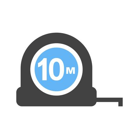 centimeters: Tape, measuring, tool icon vector image. Can also be used for construction, interiors and building. Suitable for use on web apps, mobile apps and print media.