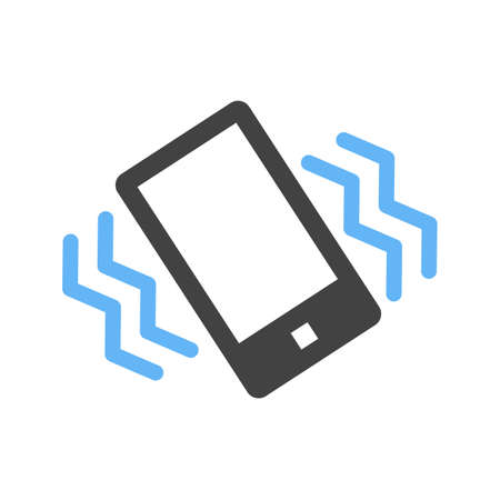Mode, mobile, vibrate icon vector image. Can also be used for mobile apps, phone tab bar and settings. Suitable for use on web apps, mobile apps and print media