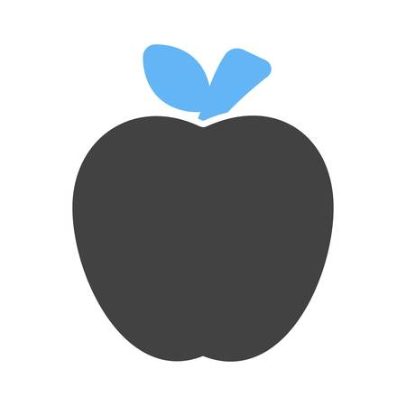 Apple, furit, delicious icon vector image. Can also be used for eatables, food and drinks. Suitable for use on web apps, mobile apps and print media