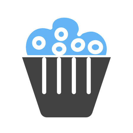 homemade cake: Muffin, pastry, sweet icon vector image. Can also be used for eatables, food and drinks. Suitable for use on web apps, mobile apps and print media Illustration