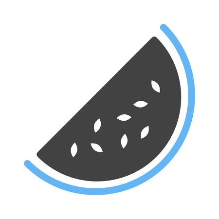 eatables: Watermelon, slice icon vector image. Can also be used for eatables, food and drinks. Suitable for use on web apps, mobile apps and print media