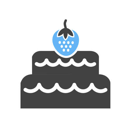 fancy pastry: Chocolate, cake, coconut icon vector image. Can also be used for sweets and confectionery. Suitable for use on web apps, mobile apps and print media.