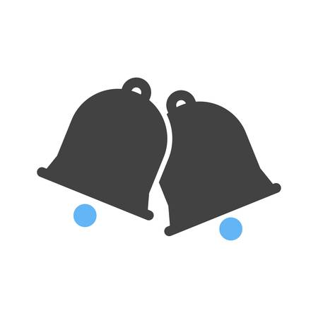 ding: Bell, christmas, alarm icon vector image.Can also be used for christmas, celebrations, observances and holidays. Suitable for use on web apps, mobile apps and print media.