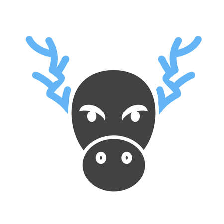 rudolf: Christmas, deer, moose icon vector image.Can also be used for christmas, celebrations, observances and holidays. Suitable for use on web apps, mobile apps and print media.
