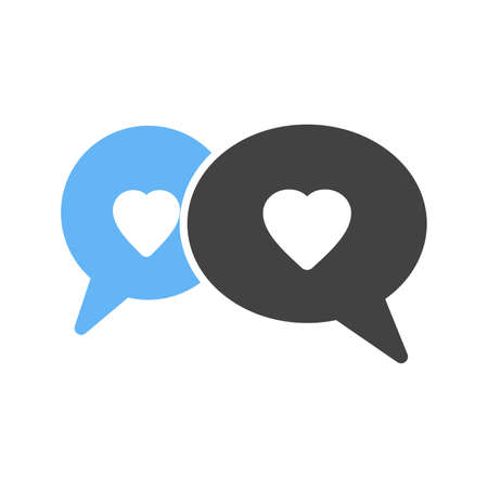 interact: Chat, talk, communication icon vector image.Can also be used for valentine, love, observances and holidays. Suitable for mobile apps, web apps and print media.