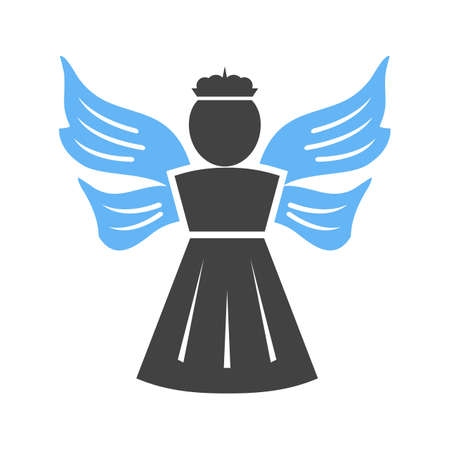 religious celebration: Angel, heaven, religious icon vector image.Can also be used for easter, celebration, observances and holidays. Suitable for mobile apps, web apps and print media.