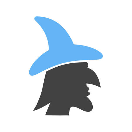 flying hat: Witch, black, fly icon vector image.Can also be used for halloween, celebration, observances and holidays. Suitable for mobile apps, web apps and print media.