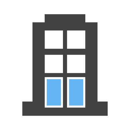 apartment block: Apartment, building, block icon vector image. Can also be used for business, finance and accounts. Suitable for web apps, mobile apps and print media.