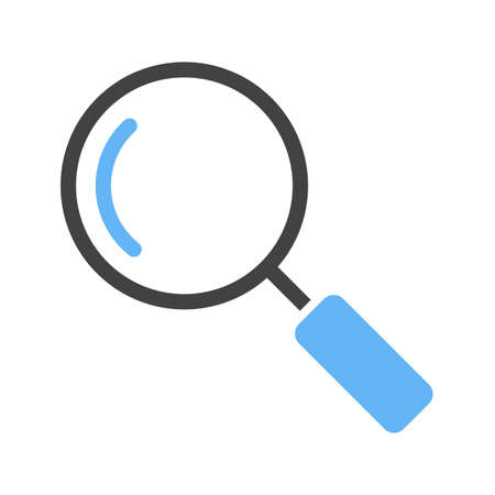 Magnifying glass, optimization, search icon vector image. Can also be used for phone tab bar and settings. Suitable for use on web apps, mobile apps and print media