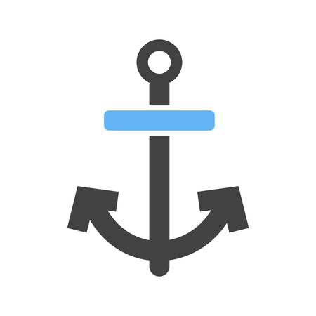 steady: Anchor, ship, boat icon vector image. Can also be used for summer, recreation and fun. Suitable for use on mobile apps, web apps and print media. Illustration