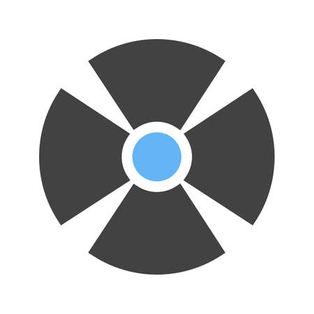 radioactive warning symbol: Radiation, radioactive, radio therapy icon vector image. Can also be used for healthcare and medical. Suitable for mobile apps, web apps and print media. Illustration