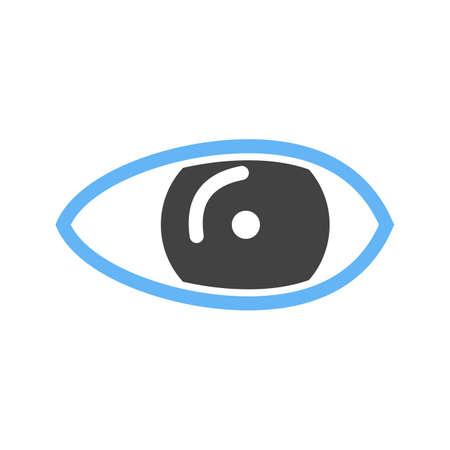 sehkraft: Auge, optische, Sehverm�gen Symbol Vektor-Bild. Kann auch f�r das Gesundheitswesen und die medizinische verwendet werden. Geeignet f�r Web-Anwendungen, mobile Anwendungen und Printmedien.