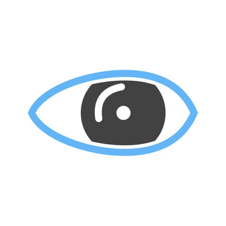 optical image: Eye, optical, eyesight icon vector image. Can also be used for healthcare and medical. Suitable for web apps, mobile apps and print media.