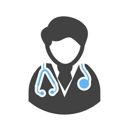男性医師は、男性医師のアイコン ベクトル画像ヘルスケアおよび医療にも使用できます。携帯アプリ、web アプリ、印刷メディアに適しています。