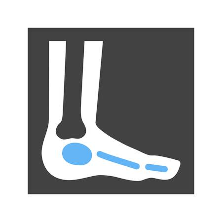 bones of the foot: Foot, xray, foot xray, ankle icon vector image. Can also be used for healthcare and medical. Suitable for mobile apps, web apps and print media.