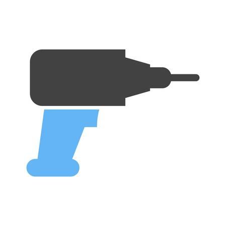 presslufthammer: Bohrer, Bohrmaschine, Presslufthammer-Symbol Vektor-Bild. Kann auch f�r den Bau, Innenausstattung und Geb�ude verwendet werden. Geeignet f�r den Einsatz auf Web-Anwendungen, mobile Anwendungen und Printmedien. Illustration