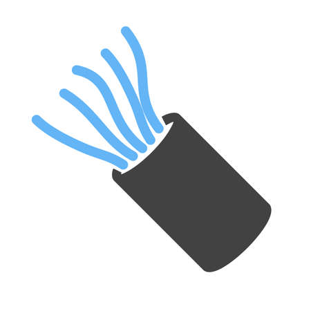 wiring: Cable, wires, wiring icon vector image. Can also be used for construction, interiors and building. Suitable for use on web apps, mobile apps and print media. Illustration