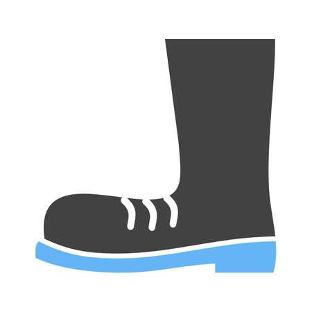 calzado de seguridad: Boot, zapatos, botas de construcci�n icono vector de imagen. Tambi�n se puede utilizar para la construcci�n, interiores y la construcci�n. Adecuado para su uso en aplicaciones web, aplicaciones m�viles y material de impresi�n.
