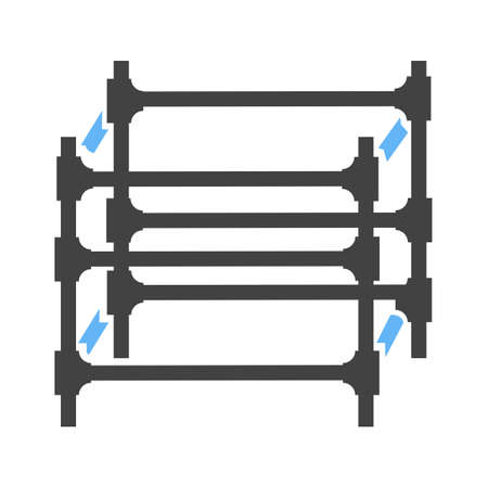 Scaffolding, steel, engineering icon vector image. Can also be used for construction, interiors and building. Suitable for use on web apps, mobile apps and print media.  イラスト・ベクター素材
