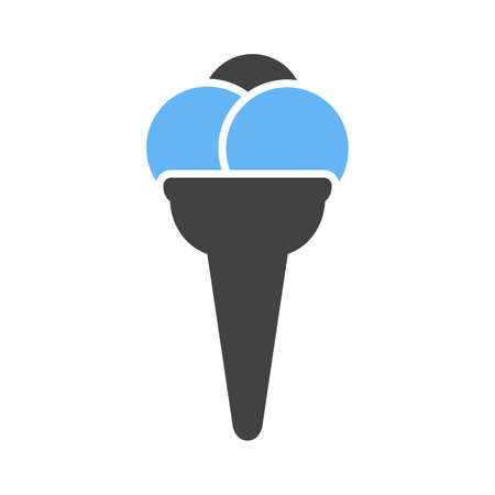 refreshment: Cone, icecream, refreshment icon vector image. Can also be used for eatables, food and drinks. Suitable for use on web apps, mobile apps and print media