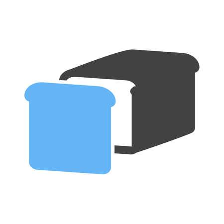 sliced: Pan, cereales, icono rodajas imagen vectorial. Tambi�n se puede utilizar para comestibles, alimentos y bebidas. Adecuado para su uso en aplicaciones web, aplicaciones m�viles y material de impresi�n