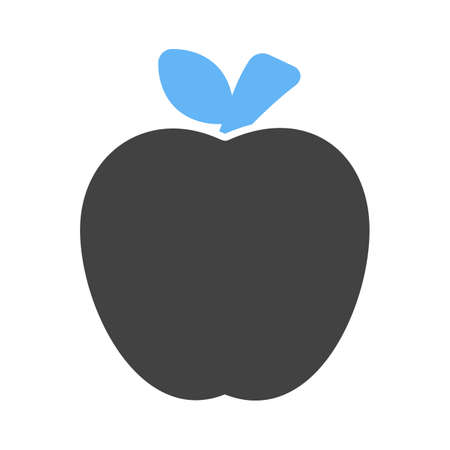 eatables: Apple, furit, delicious icon vector image. Can also be used for eatables, food and drinks. Suitable for use on web apps, mobile apps and print media