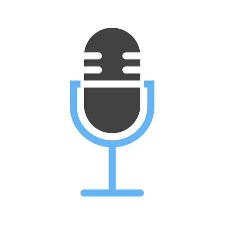 voice recorder: Voice, suggestion, tape icon vector image. Can also be used for mobile apps, phone tab bar and settings. Suitable for use on web apps, mobile apps and print media Illustration