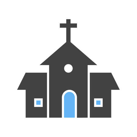 religious celebration: Building, church, religious icon vector image.Can also be used for easter, celebration, observances and holidays. Suitable for mobile apps, web apps and print media. Illustration
