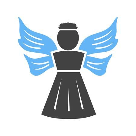 천국: Angel, heaven, religious icon vector image.Can also be used for easter, celebration, observances and holidays. Suitable for mobile apps, web apps and print media.