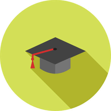 get together: Graduation, hat, celebration, get- together icon vector image. Can also be used for education, academics and science. Suitable for use on web apps, mobile apps and print media.