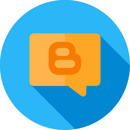 blogging: Blogging, tag, internet, webpage icon vector image.  Illustration