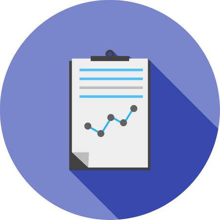 report icon: Documents, statistics, report, file icon vector image