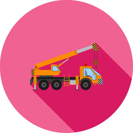 construction icon: Crane, construction, site icon vectgor image. Can also be used for transport, transportation and travel. Suitable for mobile apps, web apps and print media. Illustration