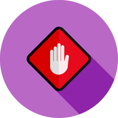 stop hand: Stop, hand, sign icon vectgor image. Can also be used for transport, transportation and travel. Suitable for mobile apps, web apps and print media. Illustration