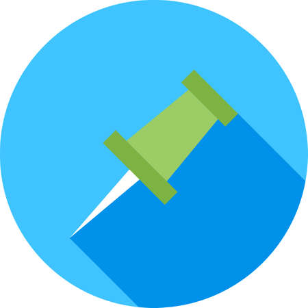 affix: Pin, thumbtack, clip, clipper icon vector image. Can also be used for education, academics and science. Suitable for use on web apps, mobile apps and print media.