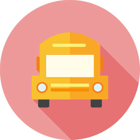 autobus escolar: Autobús escolar, transporte, vehículo, imagen del icono del vector. También se puede utilizar para la educación, académicos y la ciencia. Adecuado para su uso en aplicaciones web, aplicaciones móviles y material de impresión.