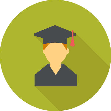 college student: Student, college, male icon vector image. Can also be used for education, academics and science. Suitable for use on web apps, mobile apps and print media. Illustration