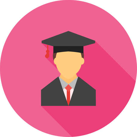 college students campus: Student, college, male icon vector image. Can also be used for education, academics and science. Suitable for use on web apps, mobile apps and print media. Illustration