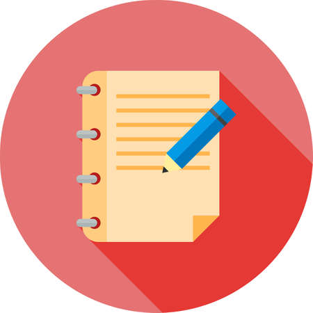 assignment: Assignment, book, education icon vector image. Can also be used for education, academics and science. Suitable for use on web apps, mobile apps and print media. Illustration