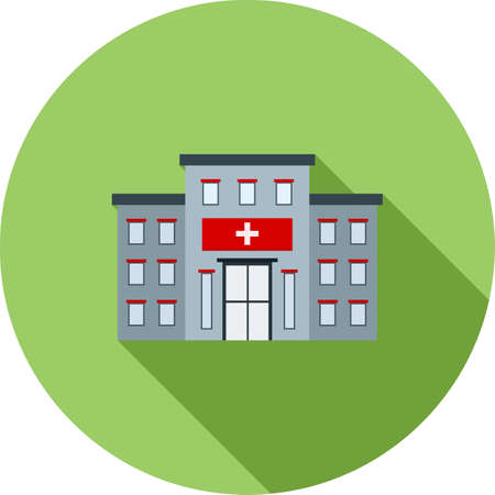 clinic: Hospital, building, clinic icon vector image. Can also be used for healthcare and medical. Suitable for mobile apps, web apps and print media.