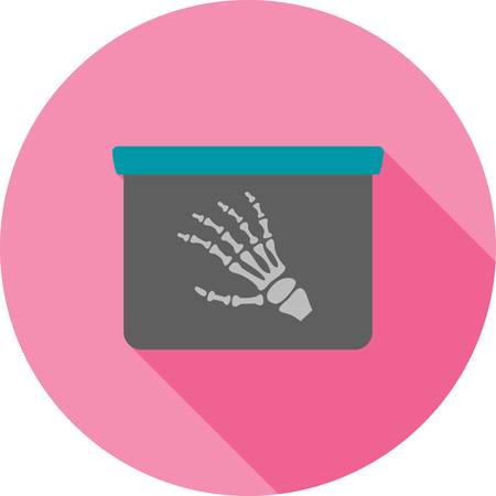 medical scan: X-ray, ray, hand, skeleton icon vector image. Can also be used for healthcare and medical. Suitable for mobile apps, web apps and print media. Illustration