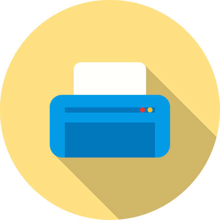 digital printer: Printer, printing machine, digital printer icon vector image. Can also be used for printing, office equipment and copying. Suitable for web apps, mobile apps and print media