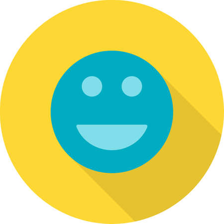 happy customer: Customer, happy, smiley icon vector image. Can also be used for real estate, property, land and buildings. Suitable for mobile apps, web apps and print media. Illustration