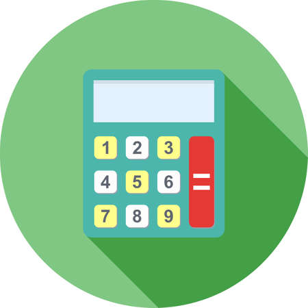 banking and finance: Calculator, mathematics, device icon vector image.Can also be used for banking, finance, business. Suitable for web apps, mobile apps and print media.